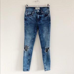 NWOT Free People Busted Knee Skinny Jeans 25